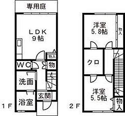[テラスハウス] 富山県富山市西荒屋 の賃貸【/】の間取り