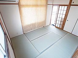 サンヒルズ須磨の入れ替え済みの綺麗な畳、側面の窓はありません。