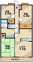 クレッシェンド 3階3LDKの間取り