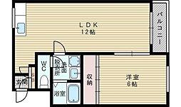 コラール小松[1階]の間取り