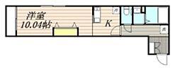 千葉県柏市あけぼの5の賃貸アパートの間取り