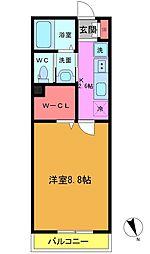 東船橋3丁目共同住宅B棟[107号室]の間取り