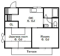 メゾン美里 B[1階]の間取り