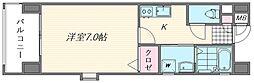 ピュアドームエタージュ箱崎[401号室]の間取り