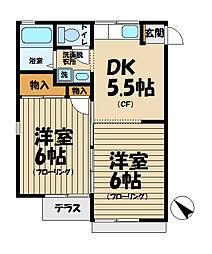 ノース鎌倉ハイツ[105号室]の間取り