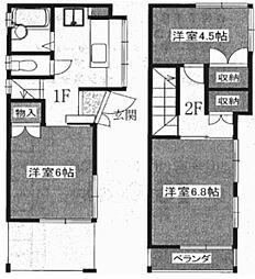 [一戸建] 東京都世田谷区奥沢1丁目 の賃貸【/】の間取り