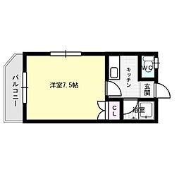 ウェールハウス[1階]の間取り