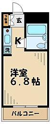 トラスティ永山[202号室]の間取り