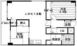 フォレックス松島[2階]の間取り