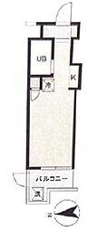 スカイコート綱島[1階]の間取り