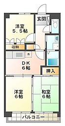 愛知県豊田市月見町2丁目の賃貸アパートの間取り