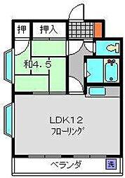 神奈川県横浜市鶴見区駒岡3丁目の賃貸マンションの間取り