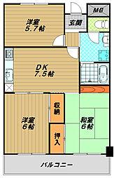 妙法寺シャロム[2階]の間取り