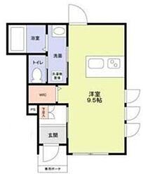 (仮称)江戸川区松島4丁目計画 1階ワンルームの間取り