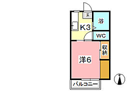 宮原マンション福井[205号室]の間取り