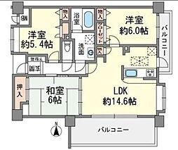 サークコート大濠センテージ[2階]の間取り