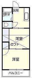 平和荘[2階]の間取り