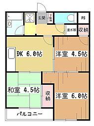 ライオンズマンション東村山[3階]の間取り