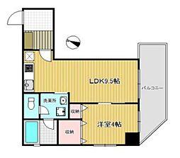 JR京浜東北・根岸線 大宮駅 徒歩3分の賃貸マンション 2階1LDKの間取り