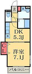 千葉県市原市根田の賃貸アパートの間取り