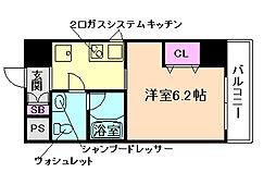 大阪府大阪市北区中津5丁目の賃貸マンションの間取り