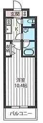東京都台東区上野3丁目の賃貸マンションの間取り