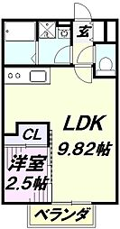massimo(マッシモ) 1階1LDKの間取り