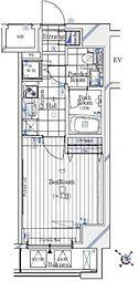 東京メトロ日比谷線 六本木駅 徒歩5分の賃貸マンション 5階1Kの間取り