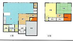 上新田町貸家 1階2LDKの間取り