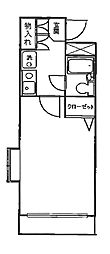 プランドール新城[2階]の間取り