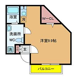 千葉県柏市あけぼの2丁目の賃貸アパートの間取り