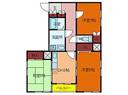 千葉県柏市中央1丁目の賃貸マンションの間取り