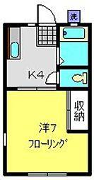 カーサ峰岡[101号室]の間取り