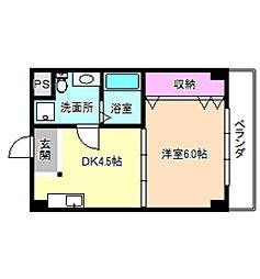 香里ヶ丘ビル[3階]の間取り