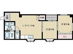 ハウスタカダ[2階]の間取り