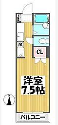 ハイツオカモト[1階]の間取り