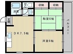 第一道山マンション[3階]の間取り