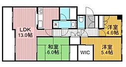 東急ドエルアルス津田沼南 3階3LDKの間取り