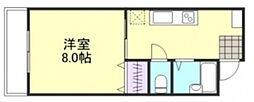 吉岡マンション D[103号室]の間取り