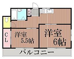 東京都大田区東六郷1丁目の賃貸アパートの間取り