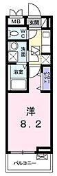 東急田園都市線 梶が谷駅 徒歩7分の賃貸アパート 1階1Kの間取り