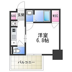 エスリード大阪上本町レジェーロ 5階1Kの間取り