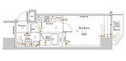 ラフィスタ板橋区役所前 2階1Kの間取り