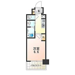 Osaka Metro御堂筋線 西中島南方駅 徒歩8分の賃貸マンション 4階1Kの間取り