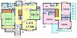 [一戸建] 大阪府堺市美原区丹上 の賃貸【/】の間取り