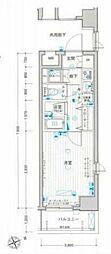 JR山手線 浜松町駅 徒歩10分の賃貸マンション 5階1Kの間取り