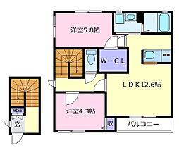 シャルマンメゾン[2階]の間取り
