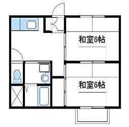 神奈川県厚木市温水の賃貸マンションの間取り