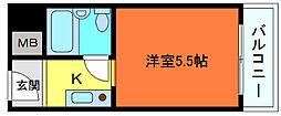 メゾン・ド・六甲パートⅠ(上河原)[4階]の間取り