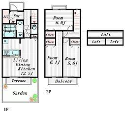 元町ガーデンハウス 1階3LDKの間取り